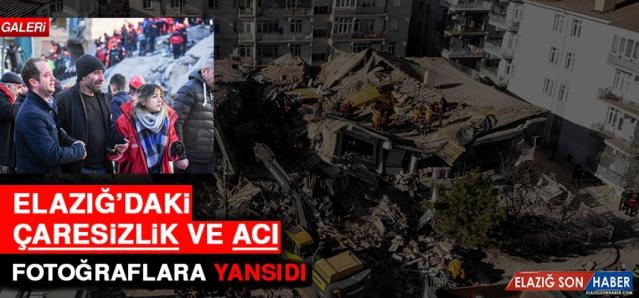 Elazığ'da 24 Ocak 2020 tarihinde meydana gelen depremin fotoğrafları...