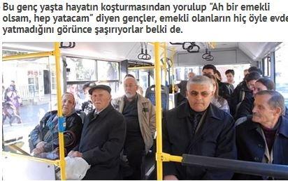 Herkesin başına bu olay gelmiştir muhtemelen başına gelmeyen yoktur. Otobüste yaşlılara yer verme tartışması çok acayip bir hal alarak devam ediyor.