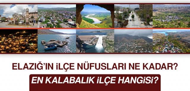Önümüzdeki günlerde Elazığ'ın 2019 yılı nüfus oranlarının açıklanması bekleniyor. Peki 2018 yılında Elazığ'ın ve ilçelerinin toplam nüfusu neydi?