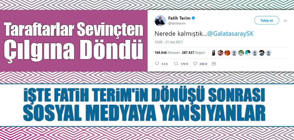 Nerede Kalmıştık? Fatih Terim'in Yeniden Galatasaray'a Dönmesinin Ardından Sevinçten Çılgına Dönen Taraftarlar