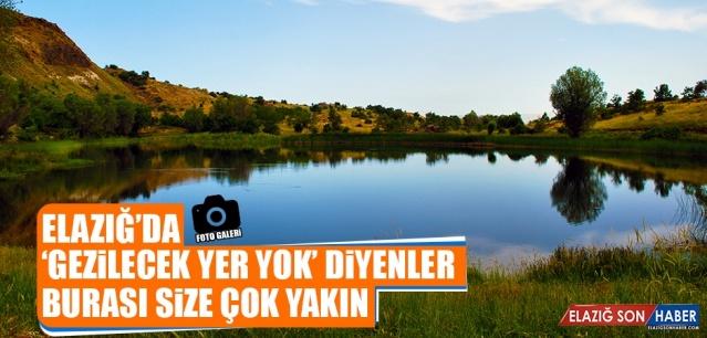 Elazığ'ın şirin ilçesi Ağın'da görmeye değer bir yer olan Sülük Gölü, doğal güzelliğiyle büyülüyor.