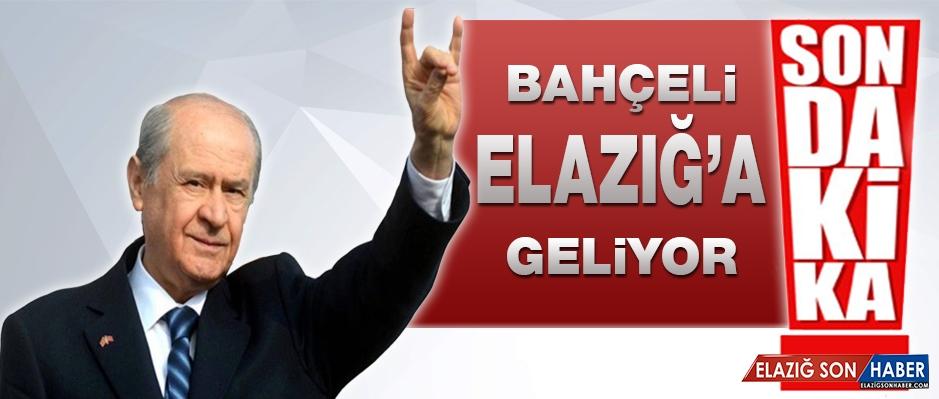 Devlet Bahçeli Elazığ'a Geliyor!