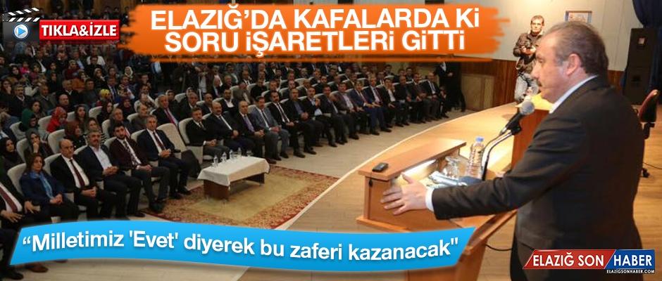 Elazığ'da Mustafa Şentop Konferans Verdi