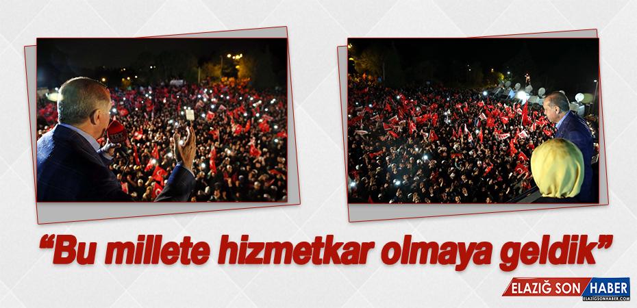 Cumhurbaşkanı Erdoğan'dan balkon konuşması!