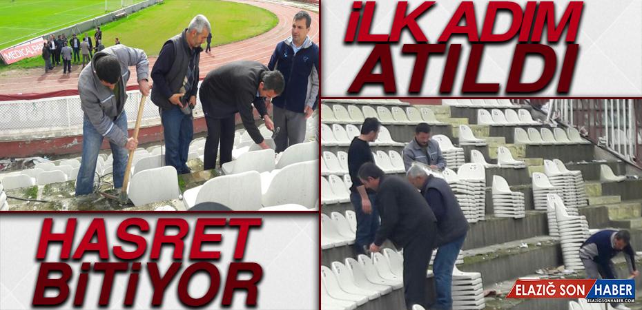 Elazığ Atatürk Stadyumunda Yenileme Çalışmaları Başladı