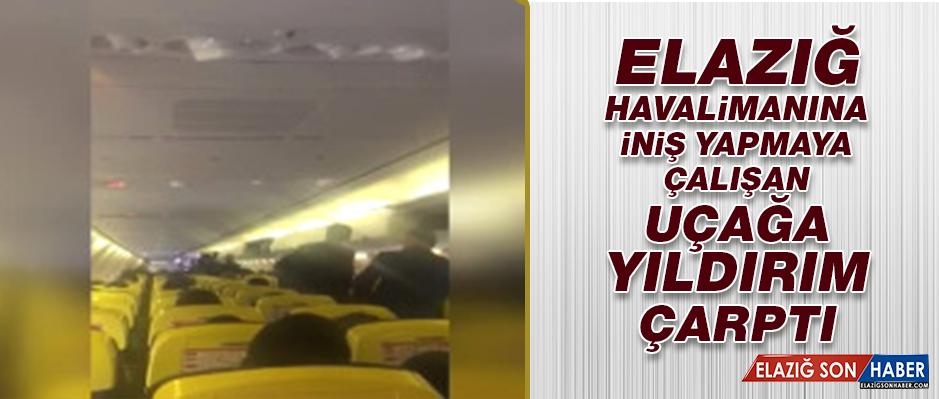 Elazığ Havalimanına İniş Yapmaya Çalışan Uçağa Yıldırım Düştü