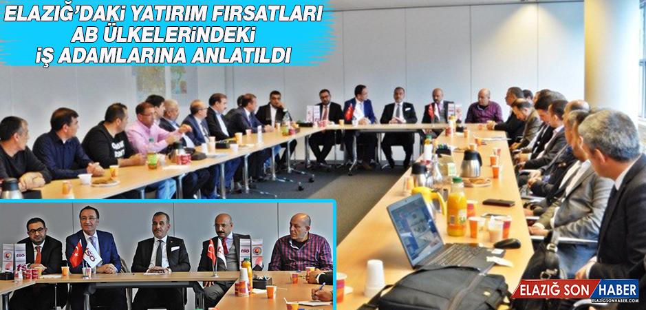 Elazığ'ın Yatırım Fırsatları Yurt Dışında Anlatıldı