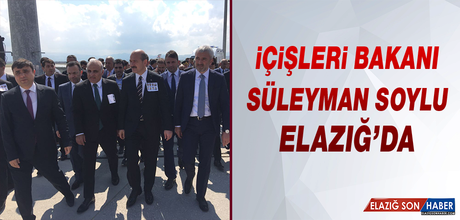 İçişleri Bakanı Soylu, Elazığ'da