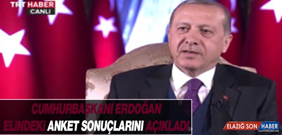 İşte Cumhurbaşkanı Erdoğan'ın Elindeki Anket Sonuçları
