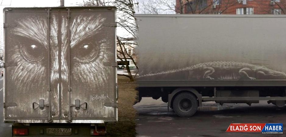 Kirli Otomobilleri Sanat Eserine Dönüştürüyor