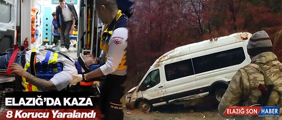 Korucuları Taşıyan Minibüs Kaza Yaptı