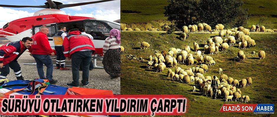 Sürüyü Otlatan Çobana Yıldırım Çarptı