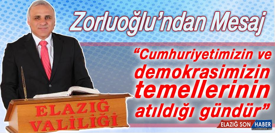 Vali Zorluoğlu'ndan 23 Nisan Mesajı