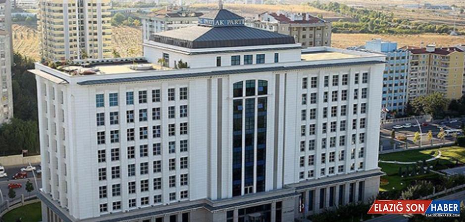 AK Parti MKYK Pazartesi Günü Toplanacak
