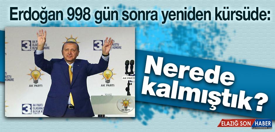 Cumhurbaşkanı Erdoğan'ın Kongre Konuşması
