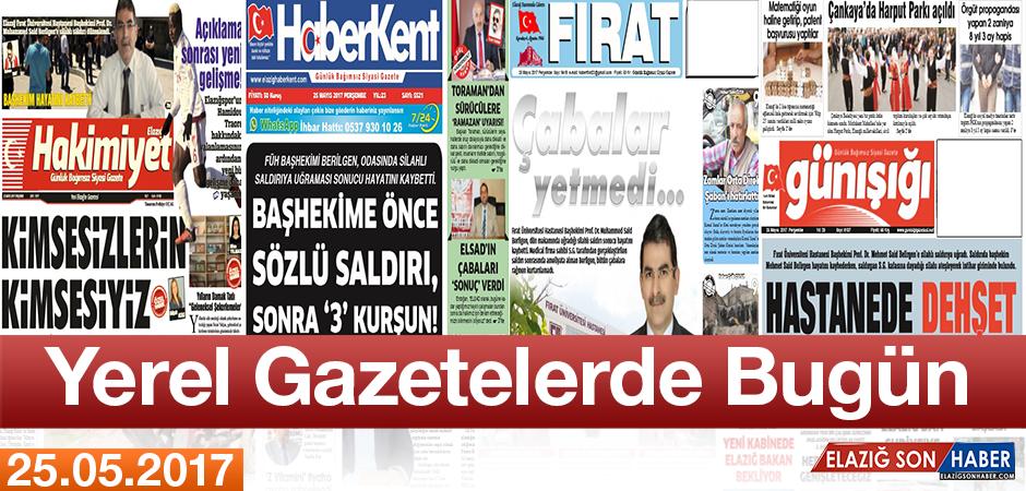 Elazığ'ın Yerel Gazete Manşetlerinde Bugün Neler Var?
