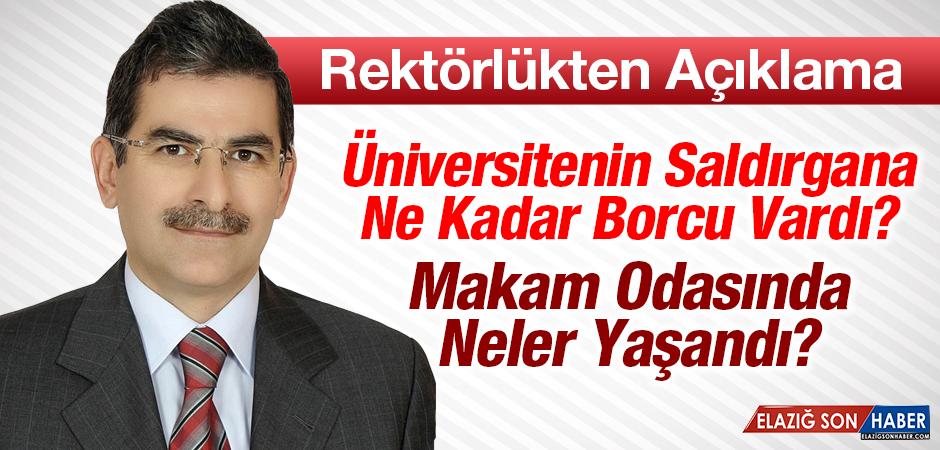 Fırat Üniversitesi Rektörlüğü'nden Saldırıyla İlgili Açıklama