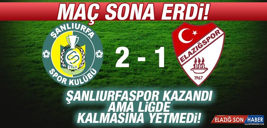 Şanlıurfaspor 2-1 Elazığspor //Urfa Kazandı Ama Ligde Kalmasına Yetmedi!