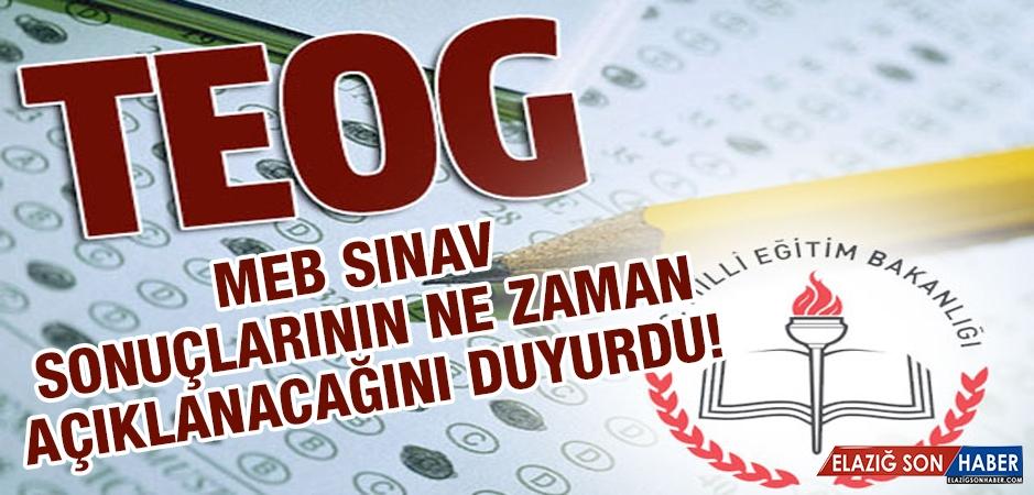 TEOG Sınav Sonuçlarının Açıklanacağı Tarih Belli Oldu!