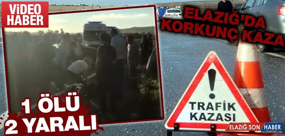 Elazığ'da Korkunç Kaza 1 Ölü 2 Yaralı
