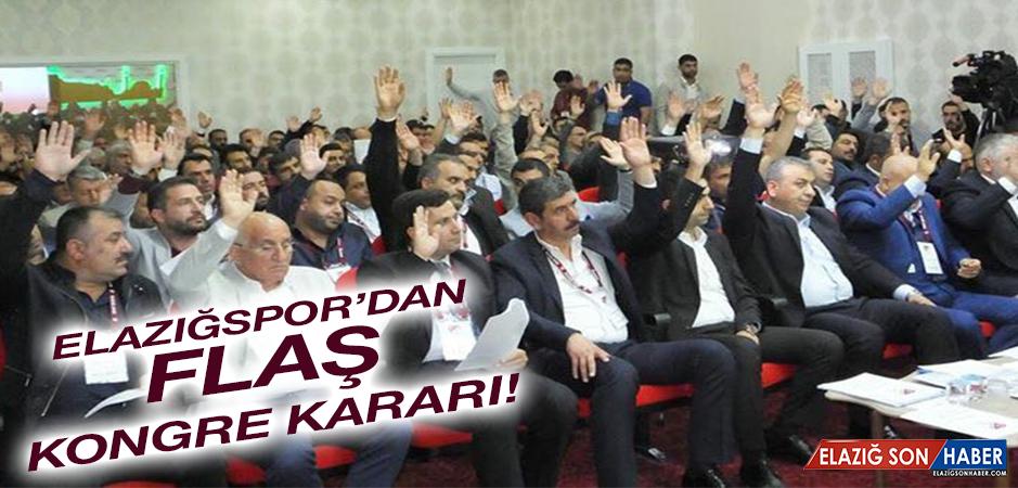 Elazığspor Seçimli Olağanüstü Kongre Kararı Aldı