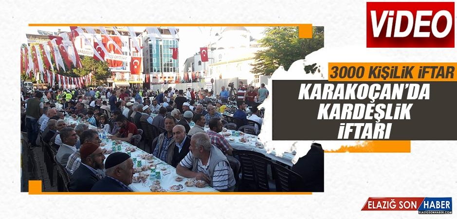 Karakoçan'da Kardeşlik İftarı Gerçekleştirildi