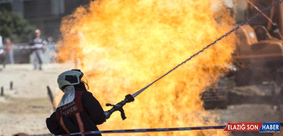 Başkentte  Korkutan Yangın