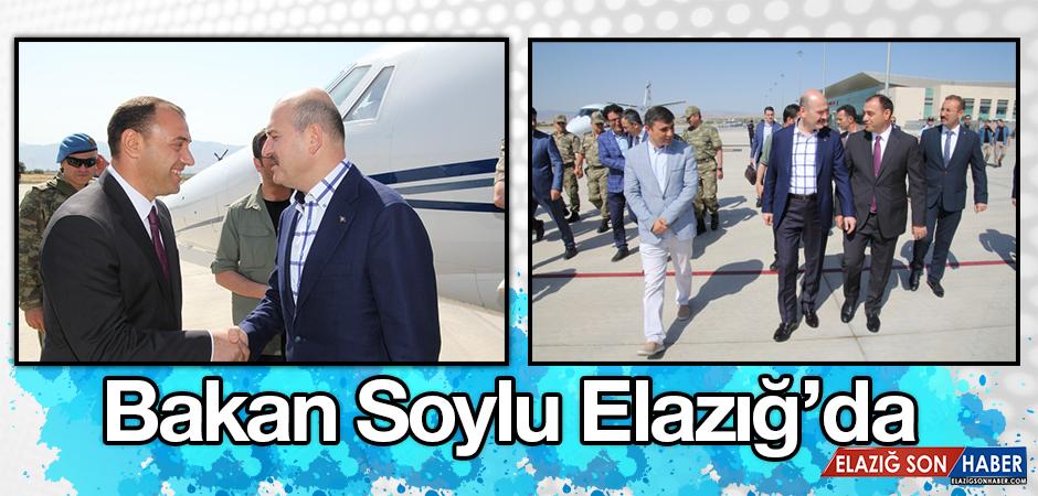 İçişleri Bakanı Soylu Elazığ'da