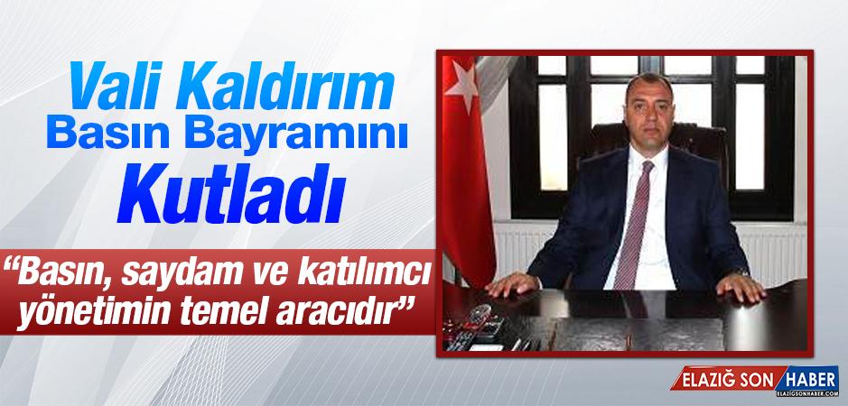 Vali Kaldırım 24 Temmuz Gazeteciler ve Basın Bayramı'nı Kutladı