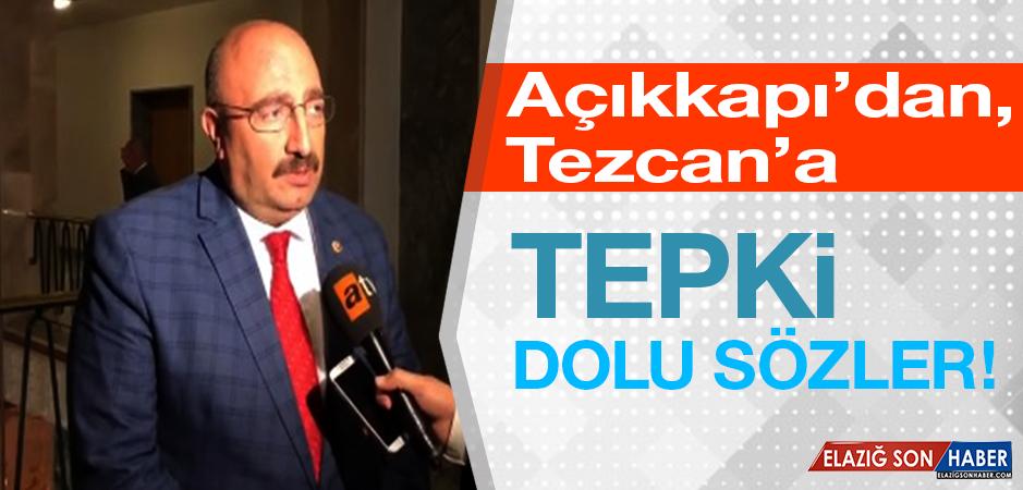 Açıkkapı'dan, CHP'li Tezcan'a Sert Tepki