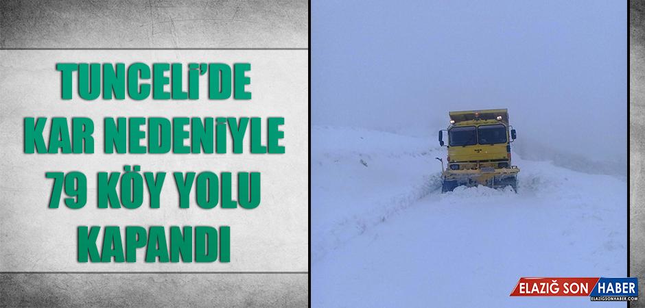 Kar Yağışı 79 Köy Yolunu Ulaşıma Kapattı