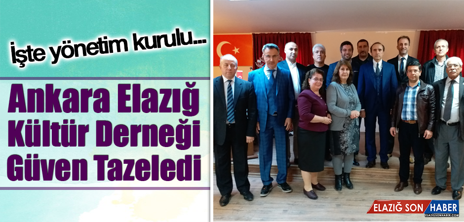 Ankara Elazığ Kültür Derneği Güven Tazeledi