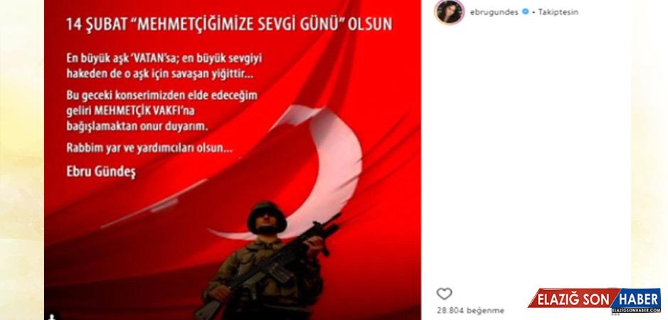 Ebru Gündeş, Sevgililer Gününde Vereceği Konserin Gelirini Mehmetçik'e Bağışlayacak