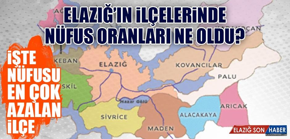 Elazığ'ın İlçe Nüfus Oranları Belli Oldu