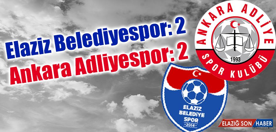 Elaziz Belediyespor 2 - 2 Ankara Adliyespor