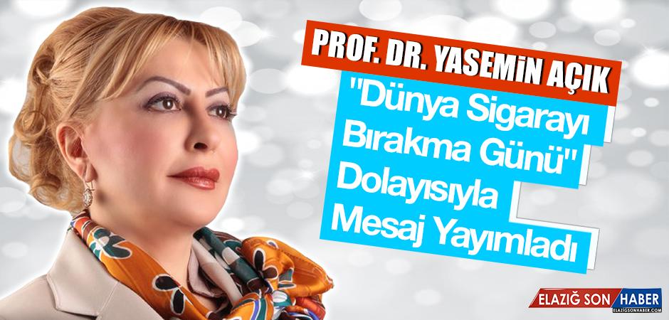 Prof. Dr. Açık: Sigara ile mücadele çalışmalarına toplumun tüm paydaşları katılmalıdır
