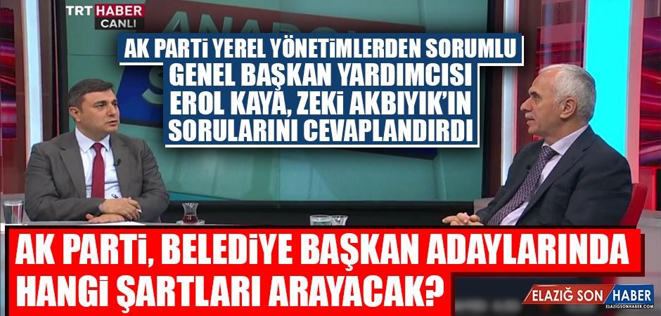 Anadolu Soruyor'un Konuğu Olan Kaya, Yerel Seçimlerle İlgili Konuştu