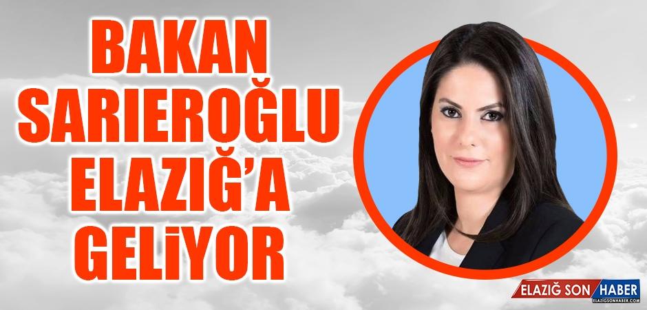 Bakan Sarıeroğlu, Elazığ'a Gelecek
