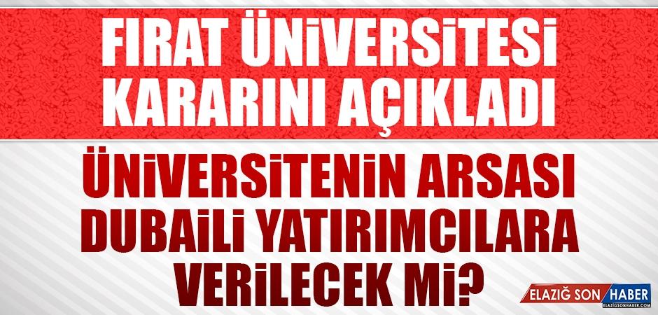 Fırat Üniversitesi Arsasını Verecek mi?