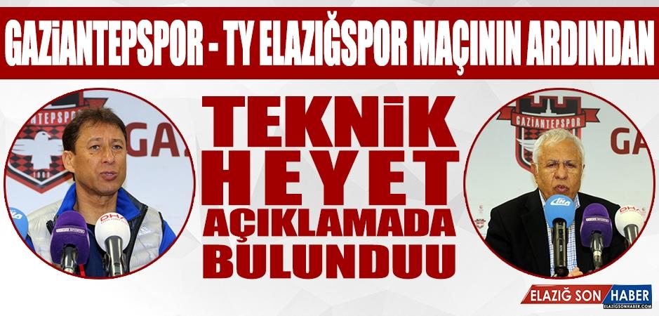 Gaziantepspor - TY Elazığspor Maçının Ardından