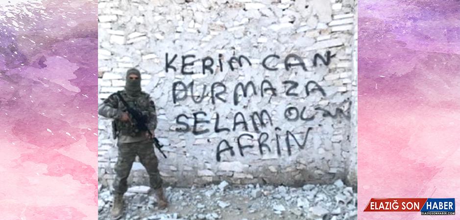 Kerimcan Durmaz, Afrin'den Mehmetçik'in Gönderdiği Fotoğrafı Paylaştı