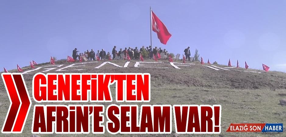 Köyün Tepesindeki Türk Bayrağı Anıtı, Törenle Açıldı