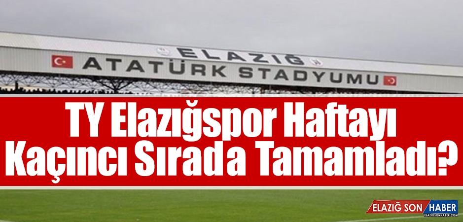 TY Elazığspor 27. Haftayı Kaçıncı Sırada Tamamladı?