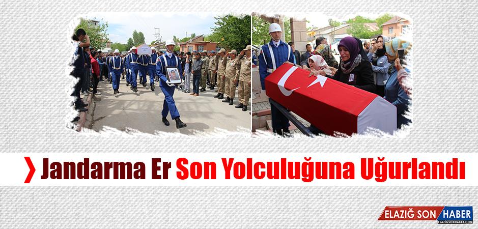 Kazada Hayatını Kaybeden Jandarma Er Son Yolculuğuna Uğurlandı