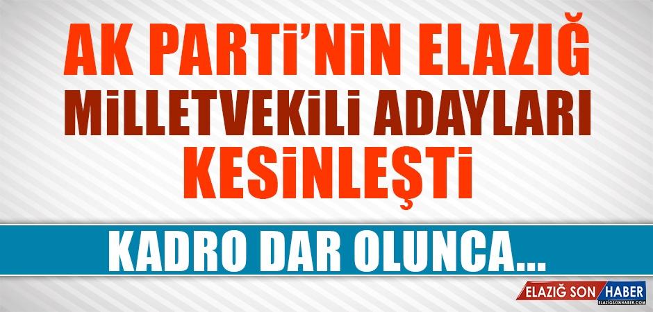 AK Parti'nin Elazığ Listesi Kesinleşti