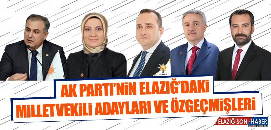 AK Parti'nin Elazığ'daki Milletvekili Adayları ve Özgeçmişleri