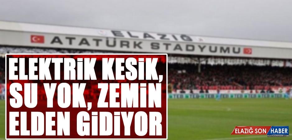 Atatürk Stadyumunda Sulama Yapılamadığı İçin Çimler Zarar Görüyor