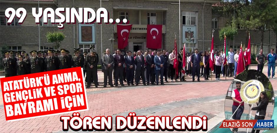 Atatürk'ü Anma, Gençlik ve Spor Bayramı İçin Tören Düzenlendi
