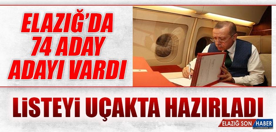 Cumhurbaşkanı Erdoğan, Aday Listesini Uçakta Hazırladı