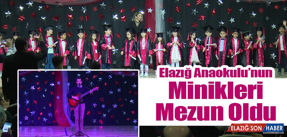 Elazığ Anaokulu, Mezun Olan Öğrencilerine Diplomalarını Verdi